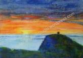 'Boscastle Sunset I' (45/35cm) £35