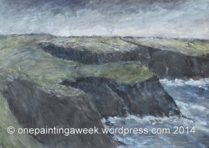 Painting Coast Landscape Padstow Treyarnon Sea