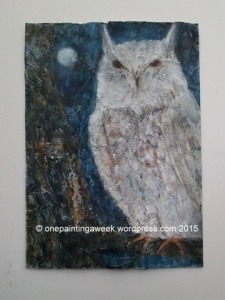 Owl bird painting