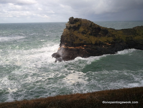Sea Boscastle Cornwall photo