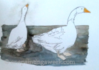 Geese Drawing