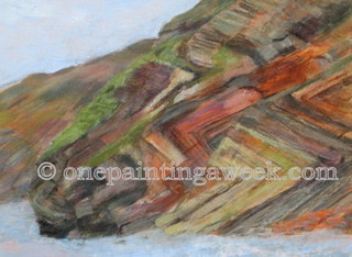 Cornwall rocks painting Millook
