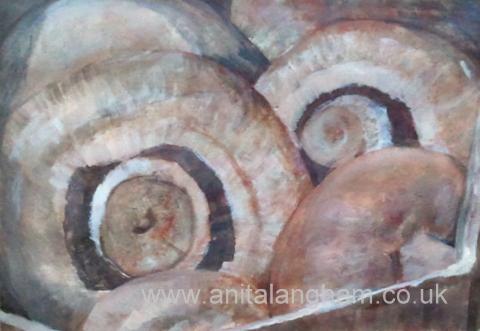Mushrooms_Painting Chestnut_Mushrooms