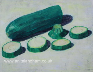 Green Courgette Painting