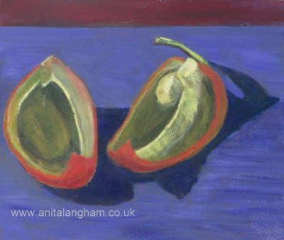Red Peppers Painting; Purple Painting;