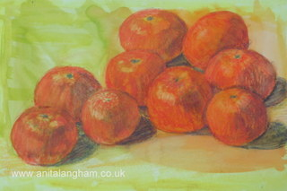 Clementines Painting; Fruit Painting; Orange Painting