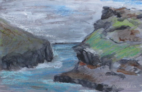 Boscastle Cornish Coast Sketch