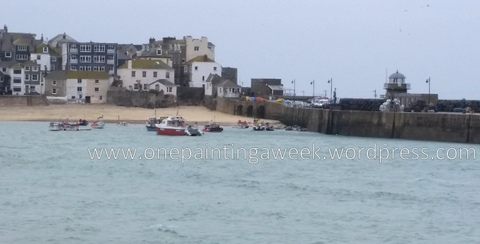 St Ives photo boats harbour spring quay