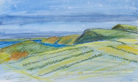 Boscastle Beeny Cliffs Watercolour Sketch