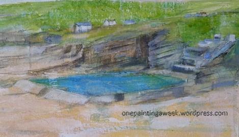 Bude Sea Pool painting beach Cornwall coast