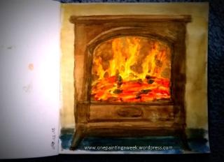 winter fire burner sketch