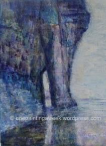 Bossiney Elephant Rock Painting Cornwall
