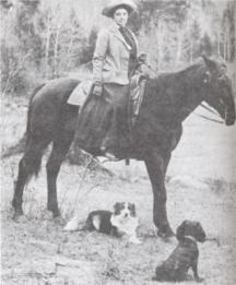 Photo of Canadian artist & writer Emily Carr with her dogs onepaintingaweek.wordpress.com